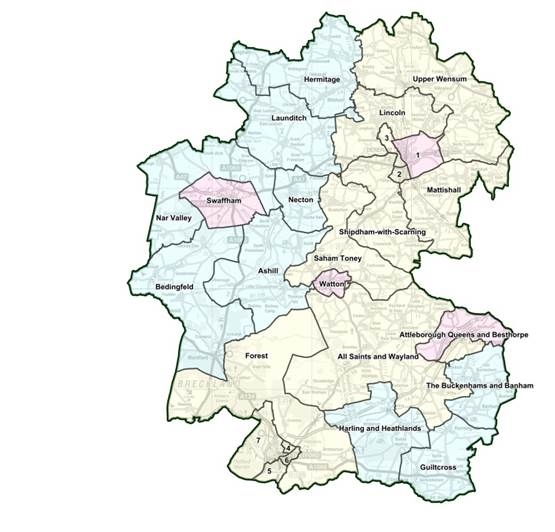 Image of Breckland District area map