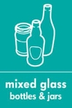 Mixed glass-bottles & jars-recyclable