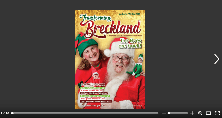 Link to Issue website to read Transforming Breckland Autumn Edition