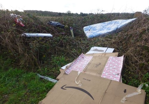 Fly tipping with Mattress