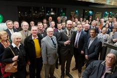 Breckland Council's Chairman, Cllr Bill Borrett, welcomed local councillors, community and business representatives, partners and others to celebrate the launch of Thetford Riverside