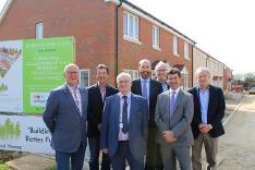 Councillors, chairman and Land Group representatives visit Mileham housing development - April 2017