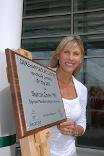 Sharron Davies MBE at the opening of Dereham Leisure Centre in 2007
