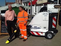 Cllr Claussen launches roll out of the Glutton street cleaner